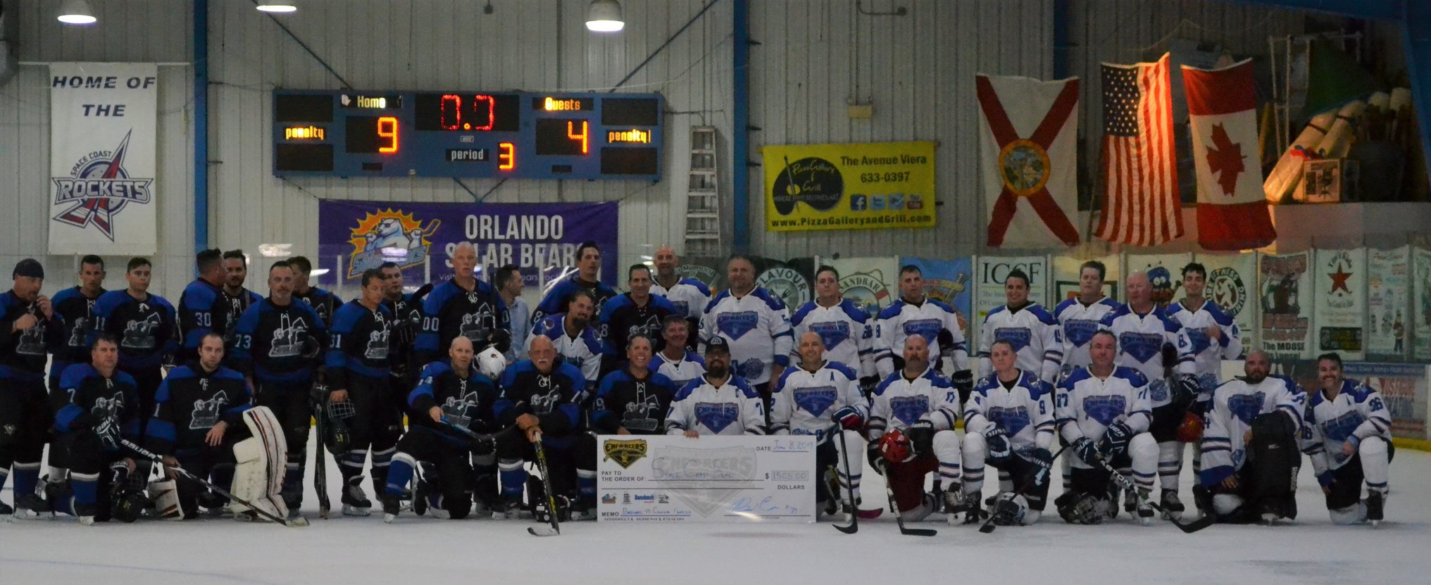 Enforcers Charity Sled Hockey Players