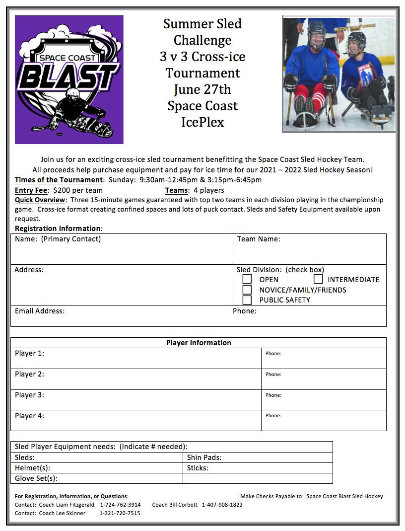 2021 Tournament Registration